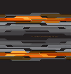 abstract yellow orange circuit grey on black vector image
