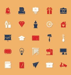 Art and creation classic color icons with shadow vector