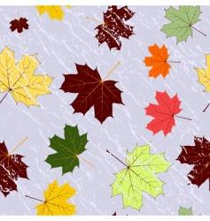autumn seamless grunge pattern vector vector image