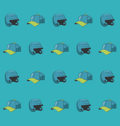 baseball pattern background vector image
