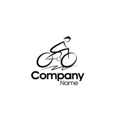 bicycle logo design vector image