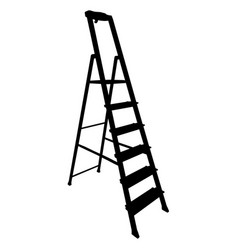 black silhouette tool staircase on a white vector image