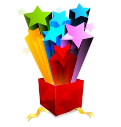 box with star vector image