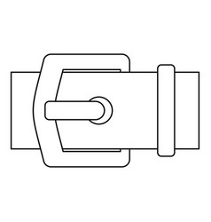 buckle belt icon outline style vector image