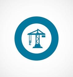 building crane bold blue border circle icon vector image