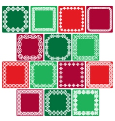 christmas square labels vector image