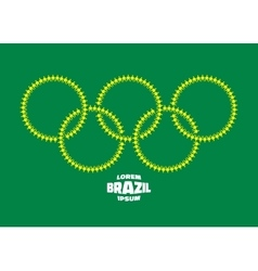 circles with people icons using Brazil flag colors vector image