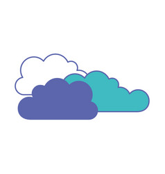 cloud cumulus in blue and purple color sections vector image