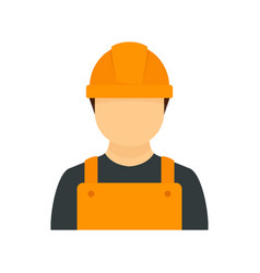 Construction man icon flat style vector
