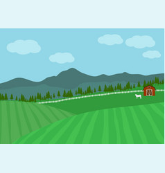 Countryside farm vector