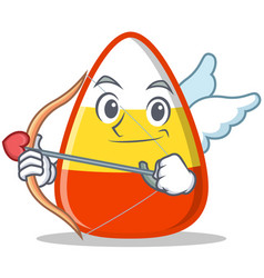 cupid candy corn character cartoon vector image