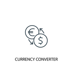currency converter concept line icon simple vector image