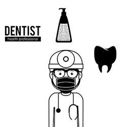 Dentist design vector image