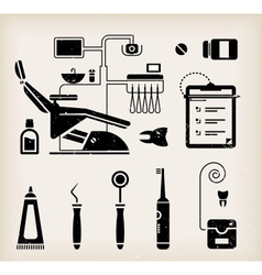Dentist icon vector