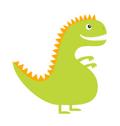dinosaur cute cartoon funny dino bacharacter vector image