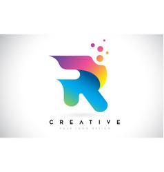 dots letter r logo r letter design with dots vector image