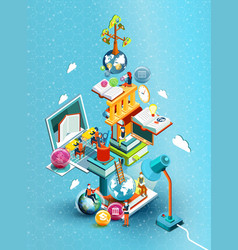 educational concept vector image