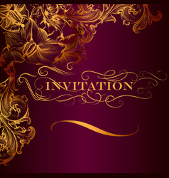 Elegant invitation card in luxury style vector