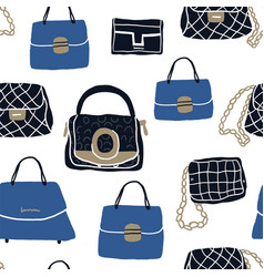 Fashion bags and clutch seamless pattern vector