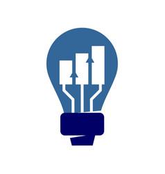 Financial accounting consulting idea logo vector
