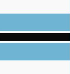 flag botswana vector image