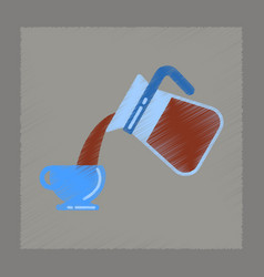 Flat shading style icon coffee cup maker vector