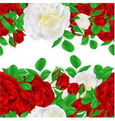 floral horizontal border seamless background vector image