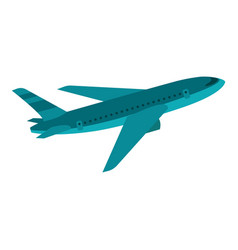 flying airplane icon flat style vector image