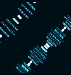 futuristic abstract dna vector image