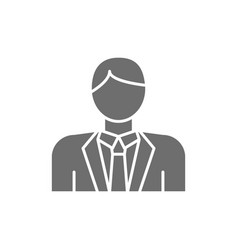 groom bridegroom fiance man in costume grey vector image