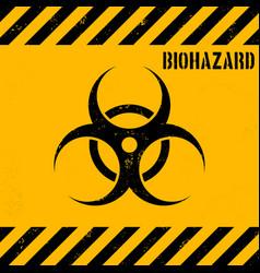 Grunge biohazard background vector