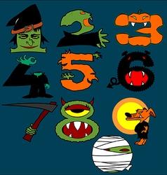 Halloween Numbers vector image
