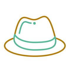hat fashion accessory elegant icon vector image