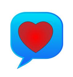 heart speech bubble text emoticon symbol vector image