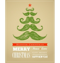 Hipster New Year and merry Christmas vector image