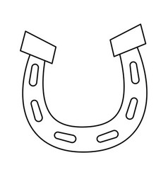 horseshoe lucky fortune vector image