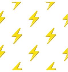 Lightning or thunderbolt pattern on the white vector