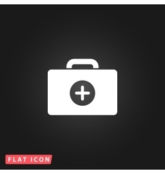 Medical box flat icon vector image