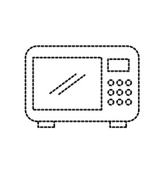 microwave appliance restaurant equipment kitchen vector image