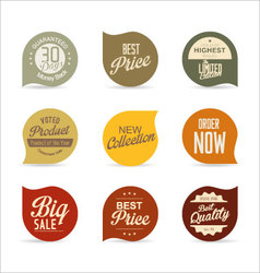 Modern badges collection 4 vector