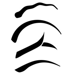 modern eyebrow shapes vector image