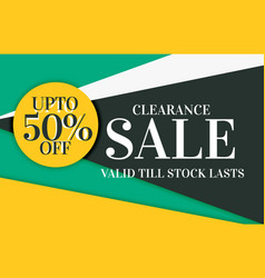modern sale and discount card banner design with vector image