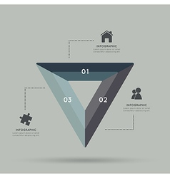 Modern triangle infographic for 3 step vector