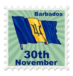 national day of Barbados vector image