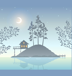 nature island vector image