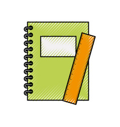 Notebook school with rule vector