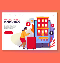 Online hotel booking or apartments web reservation vector