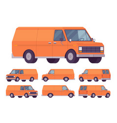 orange van set vector image