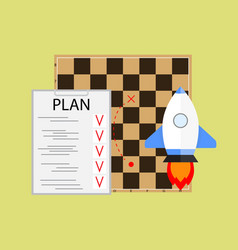 plan launching startup vector image
