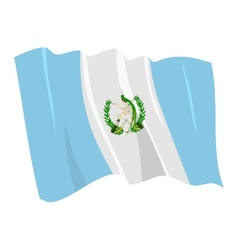 political waving flag of guatemala vector image